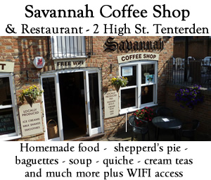 Savannah Coffee shop Tenterden